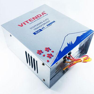Bộ đổi Nguồn 2,5KVA Vitenda Inox Từ 220V Sang 110V
