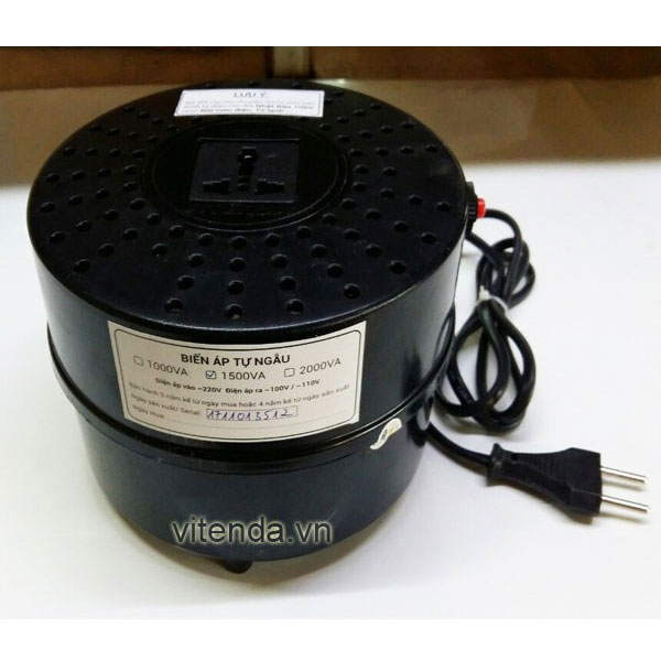 Bộ đổi Nguồn 1500VA Nhựa Tròn Vitenda Từ 220V Sang 110V(100V)