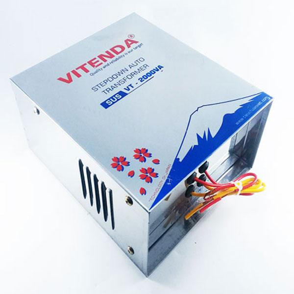 Bộ đổi Nguồn 2000VA Vitenda Inox Từ 220V Sang 110V(100V)