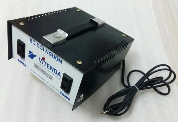 Bộ đổi nguồn 1500VA Vitenda 220V sang 110V quai xách dùng TN