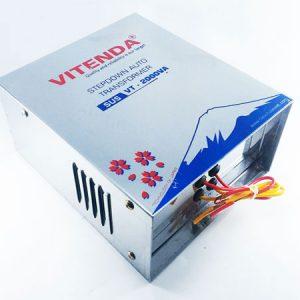 Bộ đổi điện 2KVA Vitenda Inox Từ 220V Xuống 100V – 110V